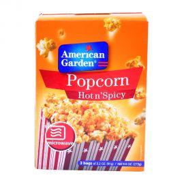 American Garden Microwave Popcorn Hot&spicy 3x3.2oz