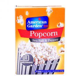 American Garden Microwave Popcorn Sea Salt & Pepper 3x3.2oz